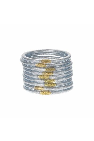 Silver Serenity Bracelets by BuDhaGirl