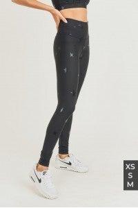 Black Star Foil Highwaist Leggings