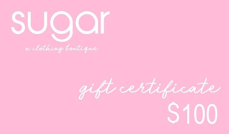 Sugar Gift Certificate
