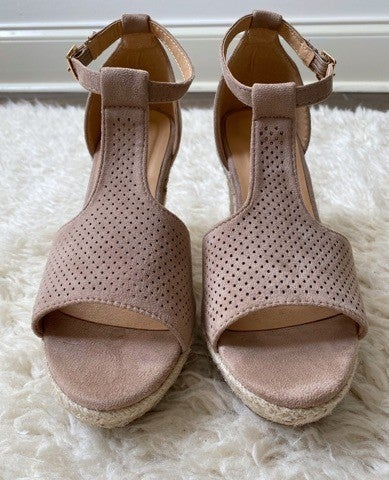 Peep Toe T-Strap Wedge Size 5 and 6