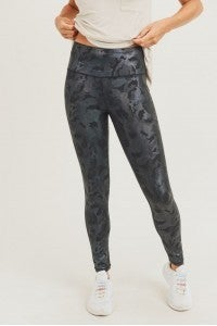 Camo Holographic Foil High-waist Leggings 3X