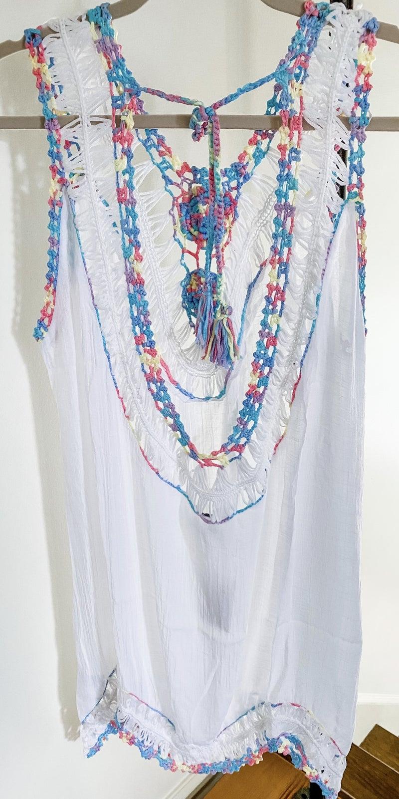 Rainbow Crochet Cover-up