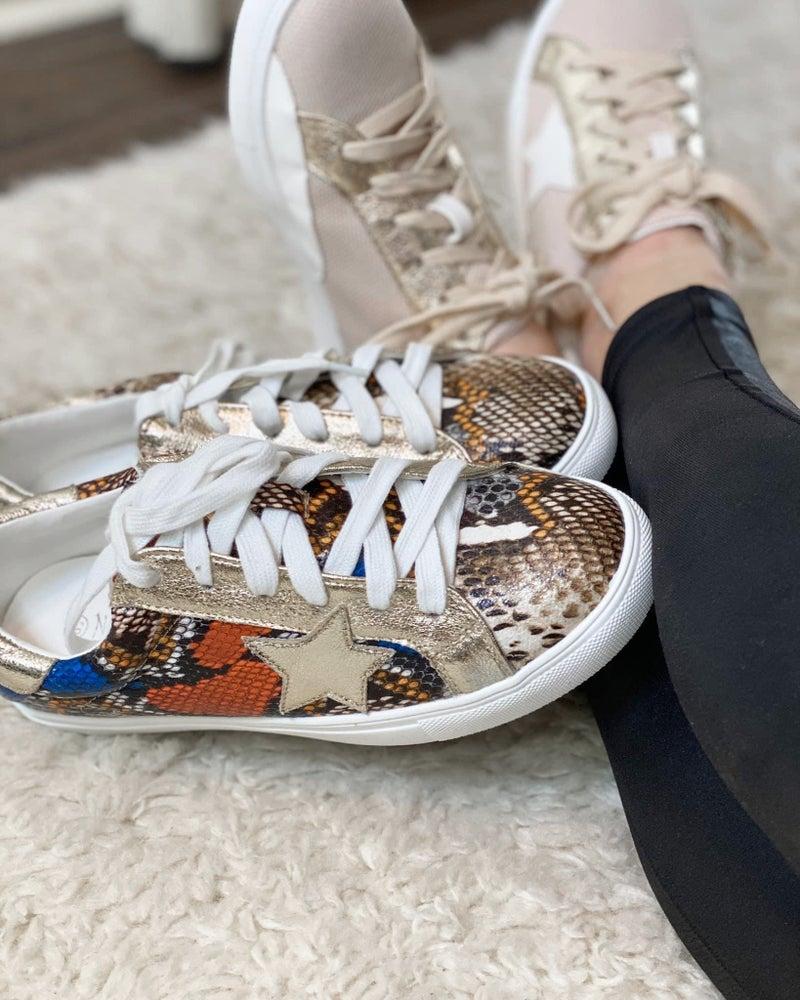 Star Accent Metallic Shoe