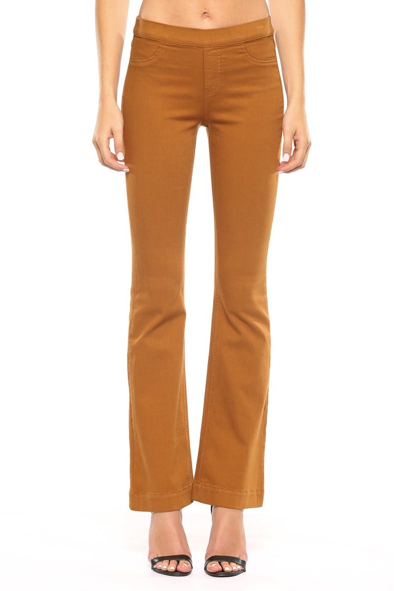 Flare Jeggings- Caramel SMALL