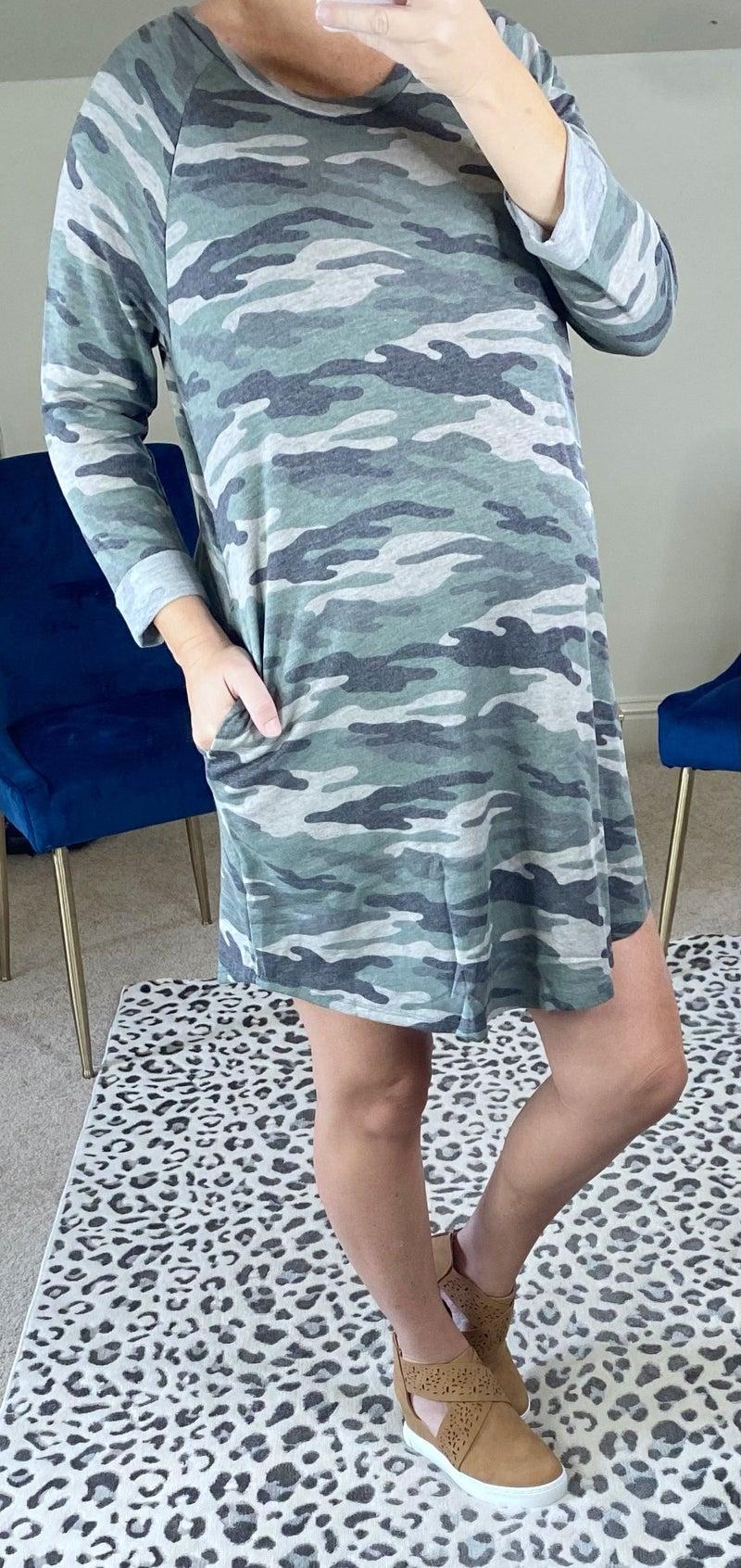 Falling for Camo Dress