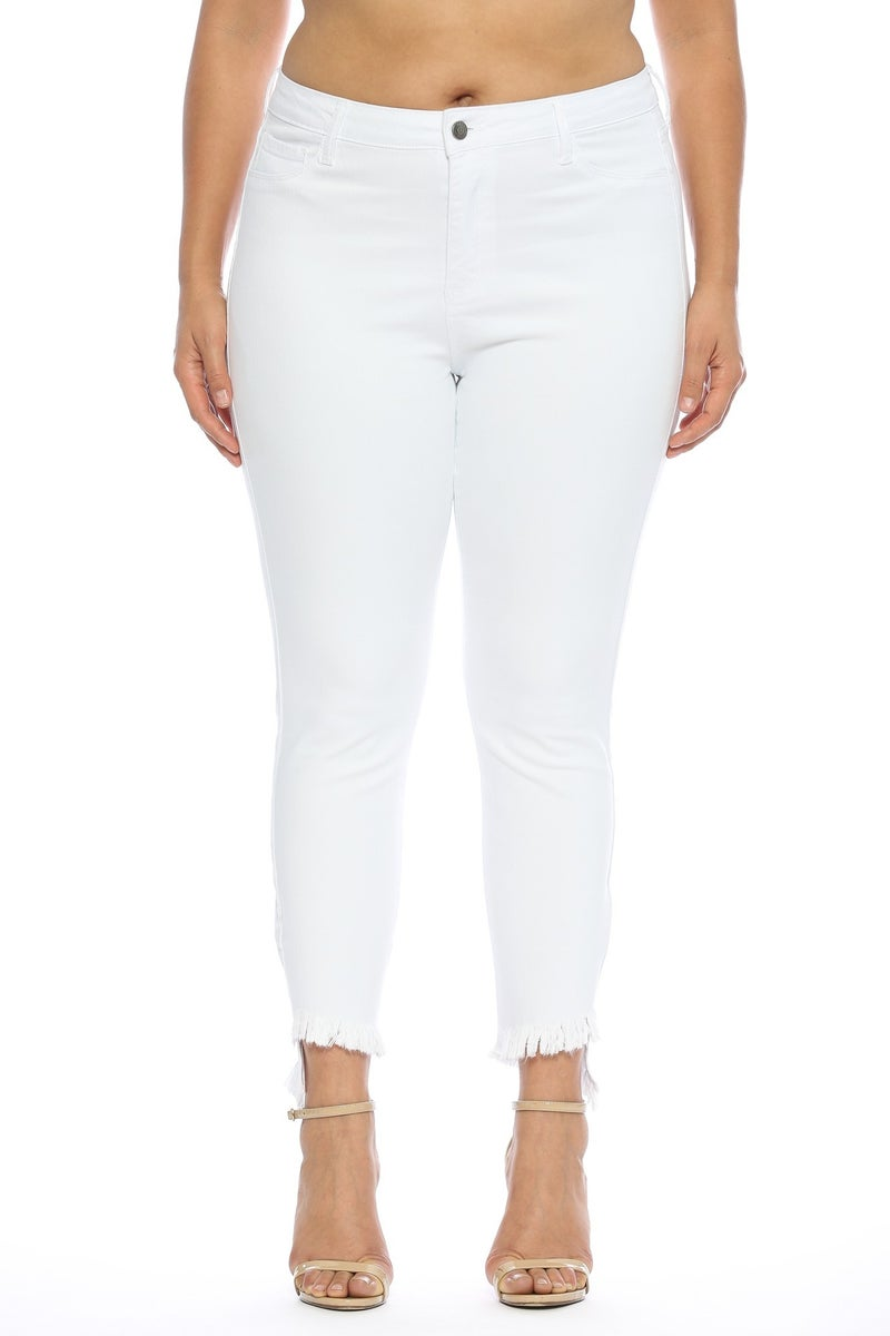 Mid-Rise White Crop Skinnies Size 1