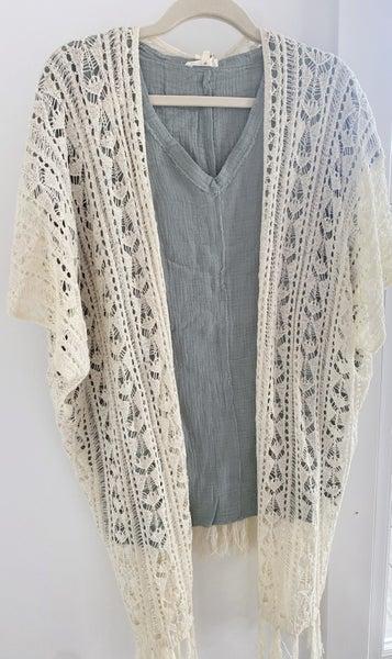 Top + Kimono Set, Size Large *Final Sale*