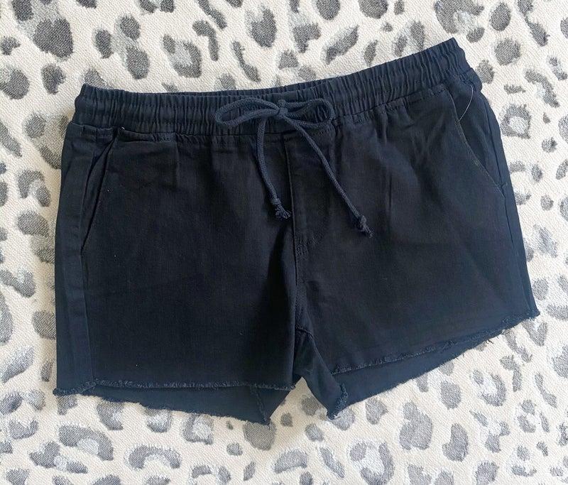 Frayed Jogger Shorts