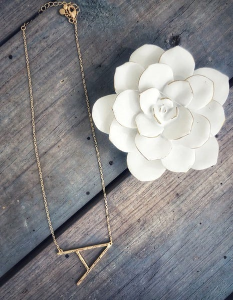 PREORDER Initial Pendant Necklace GOLD or SILVER