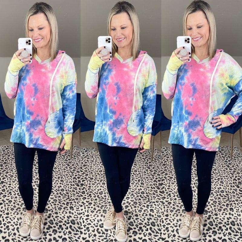 Tie-Dye Long Sleeve Sweater