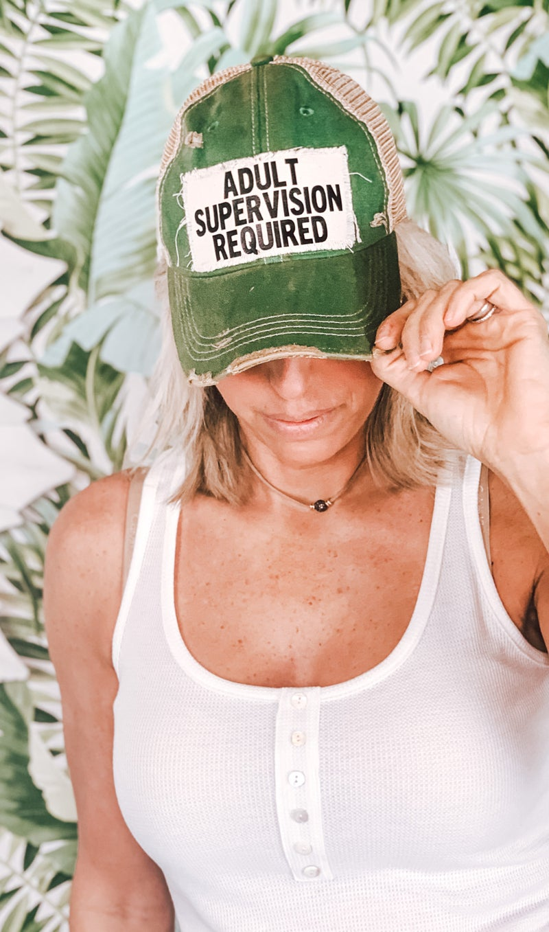 Adult Supervision Required Trucker Hat