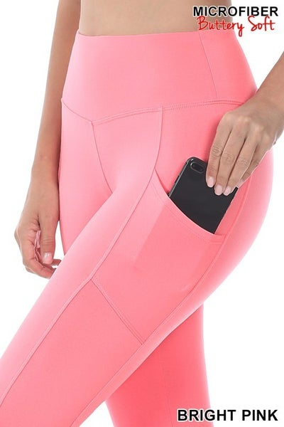 So What Pink & Black Leggings with Pockets