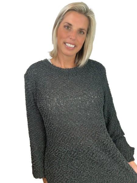 November Rain Popcorn Sweater