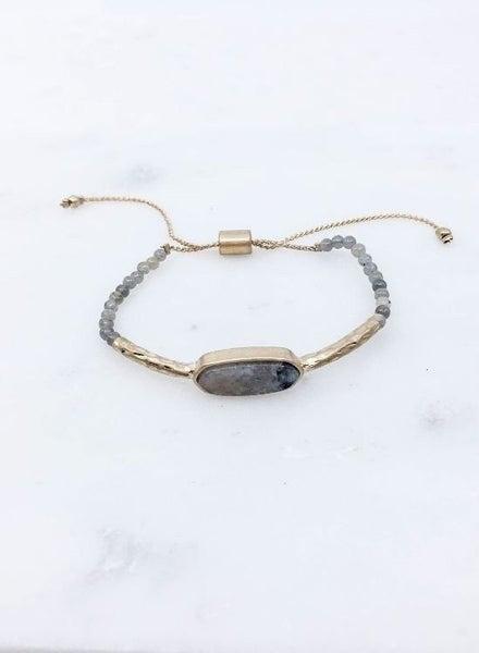 Full Circle Bracelet: Grey & White