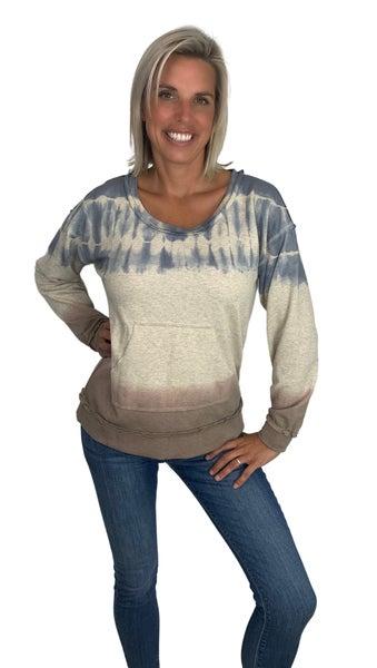 Play That Song Tie Dye Kangaroo Pocket Sweatshirt