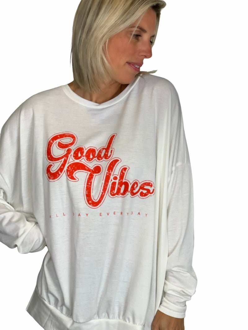 Good Vibes Long Sleeve Top