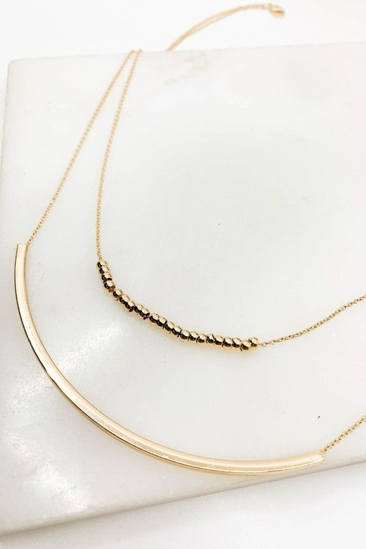 Layered Pipe Necklace