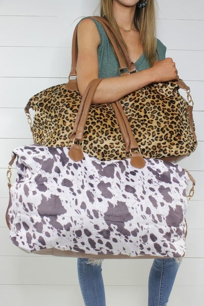Getaway with Me, Weekender Bag: Cow