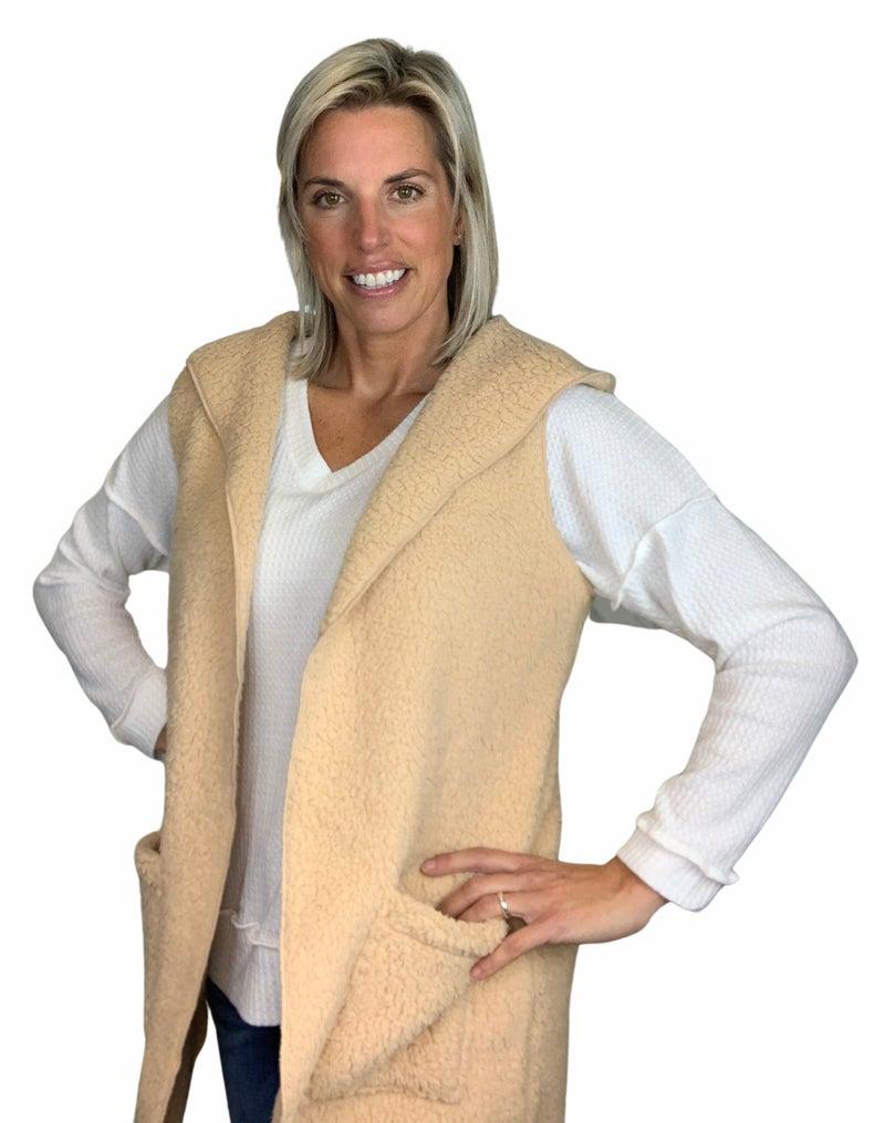 Get Cozy Hooded Vest