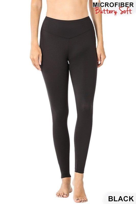 Higher Love Ultra Soft Leggings Grey & Black