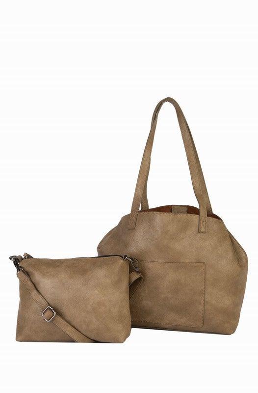 CASEY 2PC SET, SHOULDER BAG W/ BONUS BAG, OLIVE