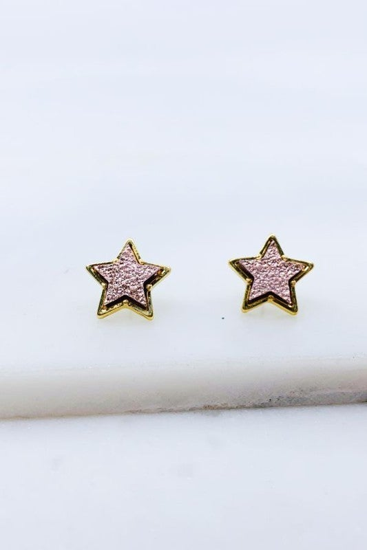 Shimmering Star Earrings: Variety Colors