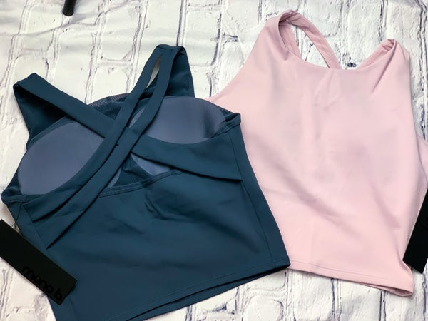 Strap Back Cropped Sports Top