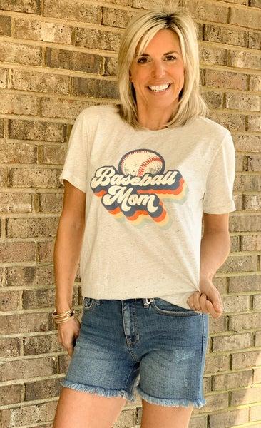 Baseball Mom Vintage Tee