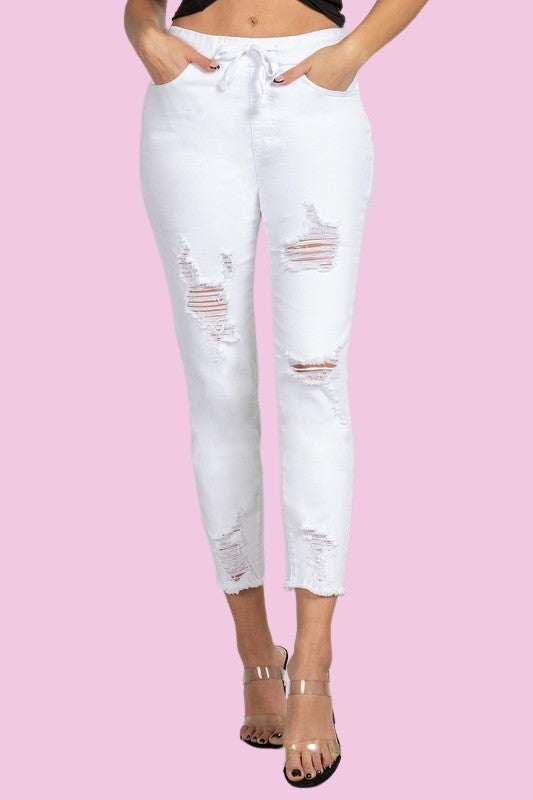 Jogger Love distressed jeans