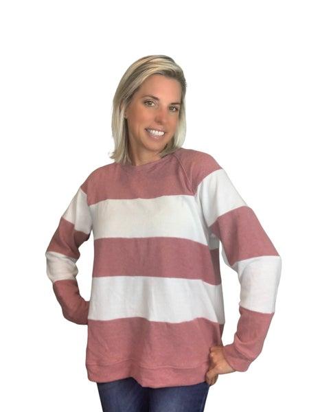 Comfy Stripe Long Sleeve Top