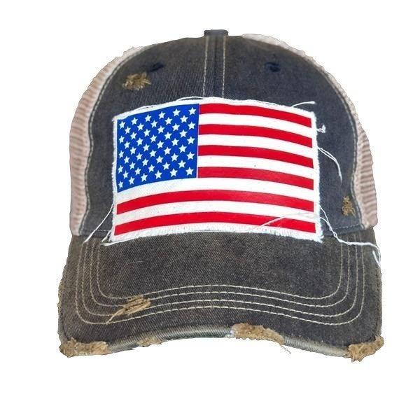 America Glitter & Matte Trucker Hat