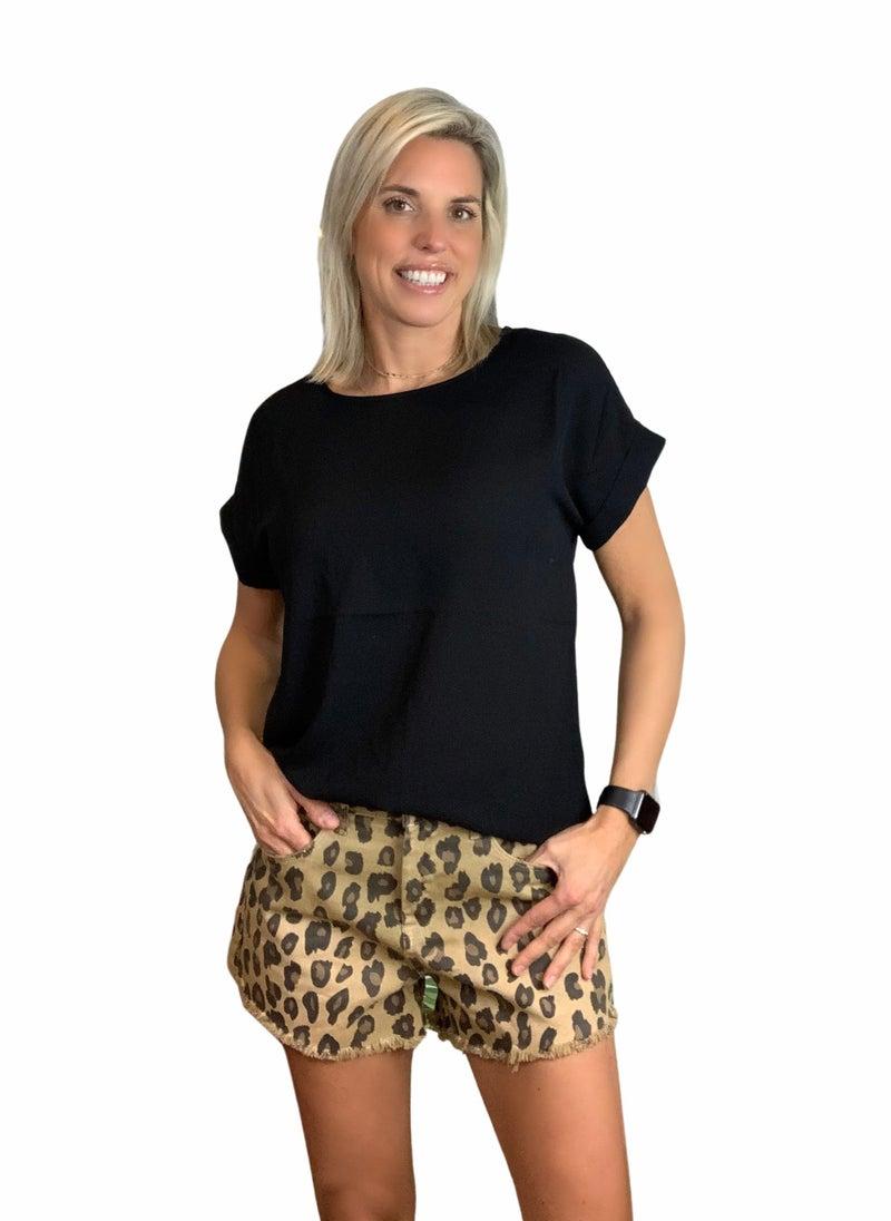 Casey Washed Denim Shorts