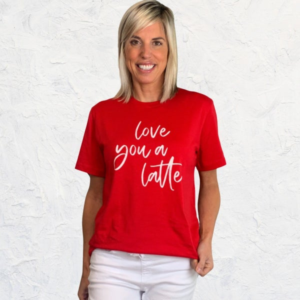 Love you Latte Graphic Tee