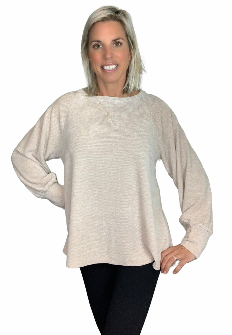 Longsleeve Soft Oatmeal Top