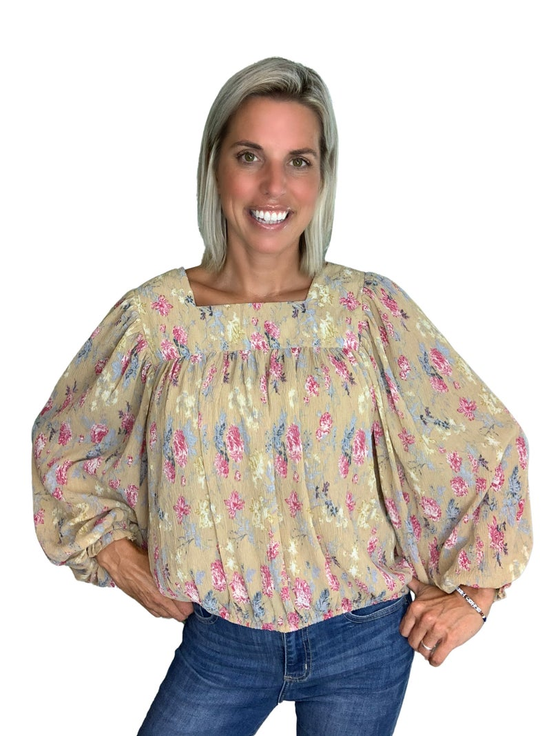Billie Jean Crinkled Chiffon Top