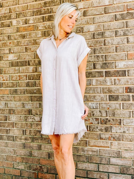 Sunrise linen dress