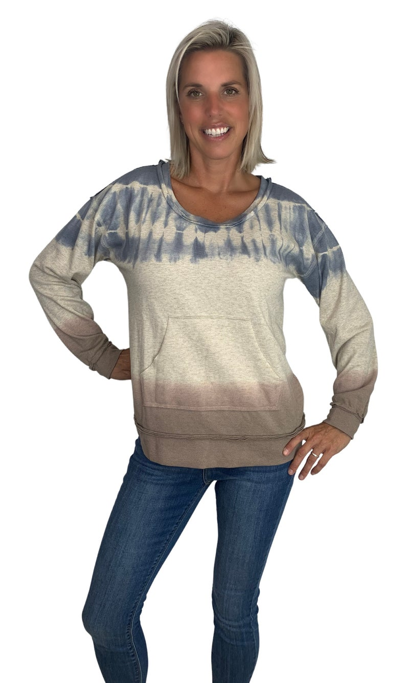 Play That Song Tie Dye Kangaroo Pocket Sweatshirt