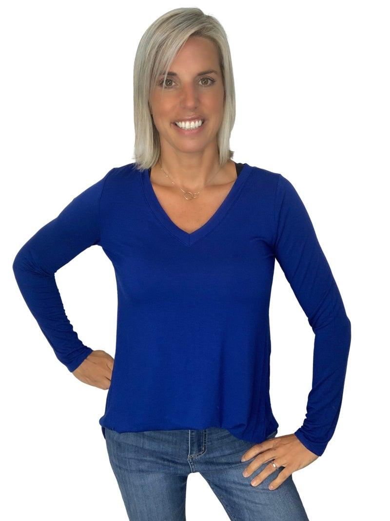 V-neck Long Sleeve: Multiple Colors