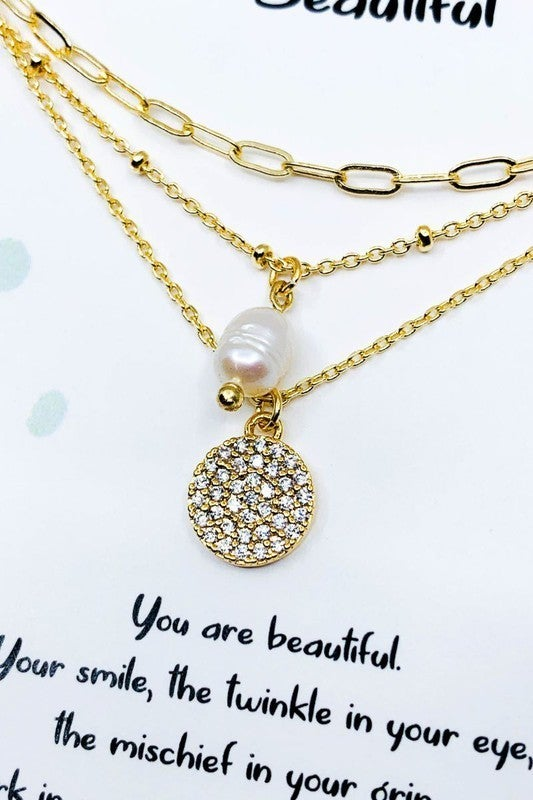 Beautiful Carded Necklace