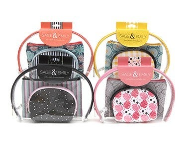 3 Pack Cosmetic Case Set