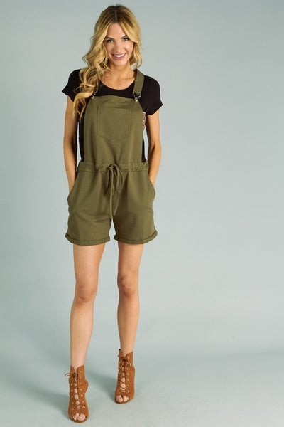 PS Kate Solid Stretchy Romper