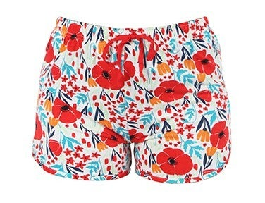 Hello Mello Red Floral Shorts