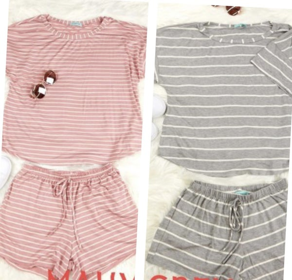 PS Kate Loose Fit Stripe Short and Top Set