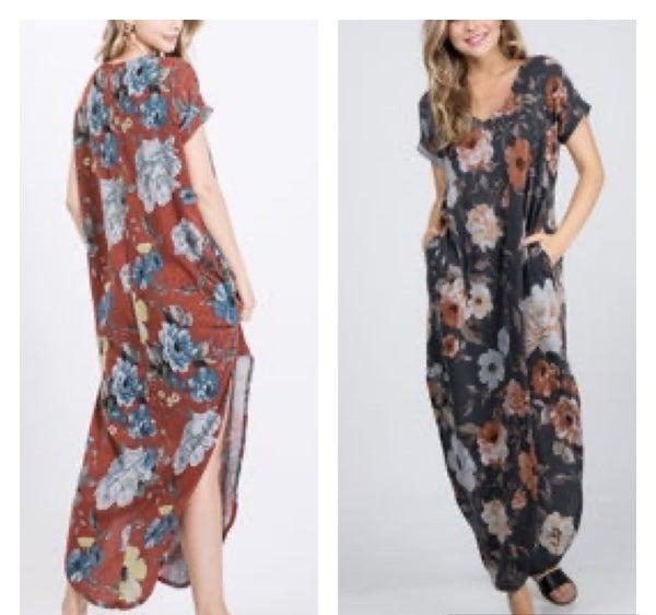 CY Fashion Short Sleeve Maxi Dress