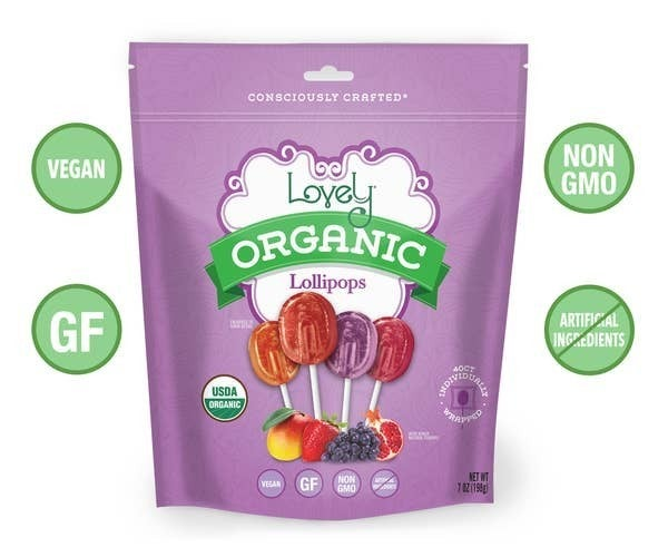 Lovely Candy Organic Lollipops