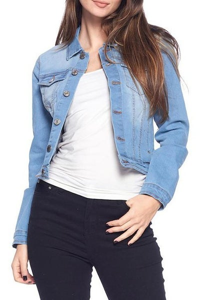 Blue Age Light Wash Denim Jacket with Functional Buttons