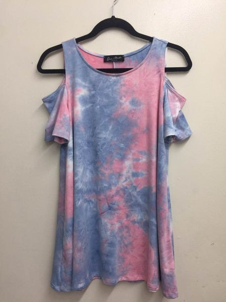 Rae Mode Cold Shoulder Tie Dye Top
