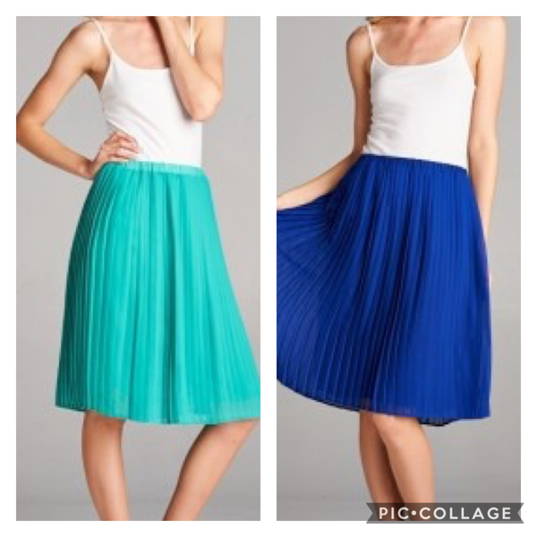 Vanilla Bay Knee Length Pleated Chiffon Skirt