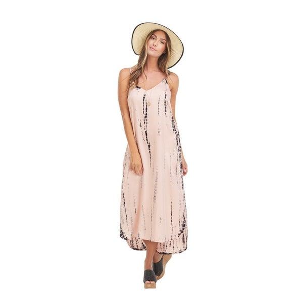 Amma Pink Tie Dye Midi Dress
