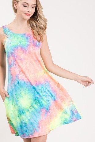 Heimish Tie Dye Tank  Dress